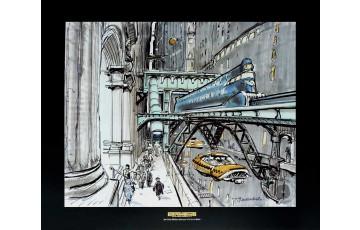Affiche d'art 'Le cinquième élément, Taxi' - Jean-Claude Mézières