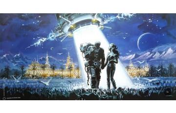 Affiche d'art 'Utopiales Nantes 2002' - Jean-Claude Mézières