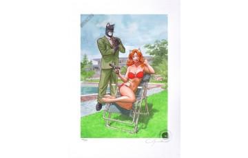 Affiche d'art N°/Signée 'Blacksad, Bodyguard' - Juanjo Guarnido