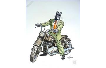 Affiche d'art N°/Signée 'Blacksad, John's Triumph' - Juanjo Guarnido