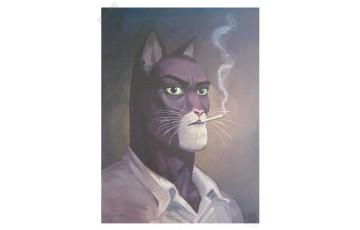 Affiche d'art 'Blacksad, Portrait de John' - Juanjo Guarnido