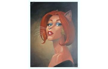 Affiche d'art 'Blacksad, Portrait de Natalia' - Juanjo Guarnido