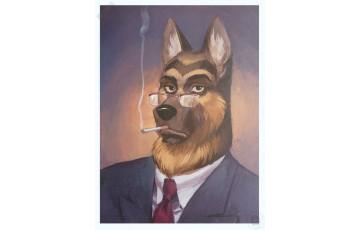 Affiche d'art 'Blacksad, Portrait de Smirnov' - Juanjo Guarnido