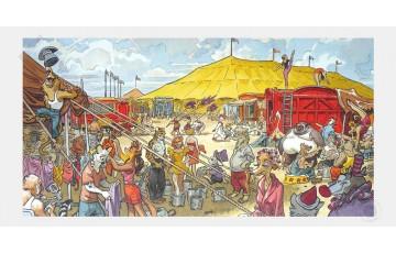 Affiche d'art N°/Signée 'Blacksad, Sunflower circus' - Juanjo Guarnido