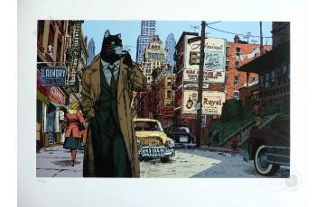 Estampe pigmentaire N°/Signée 'Blacksad, New York' - Juanjo Guarnido