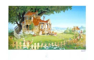 Affiche d'art 'La famille passiflore 1' - Loïc Jouannigot