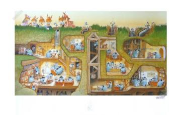 Affiche d'art 'La famille passiflore 2' - Loïc Jouannigot