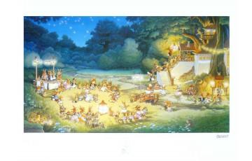 Affiche d'art 'La famille passiflore 3' - Loïc Jouannigot