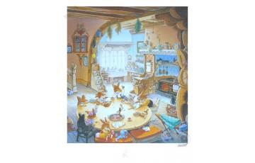 Affiche d'art 'La famille passiflore 5' - Loïc Jouannigot