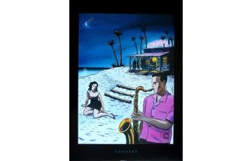 Affiche d'art 'Jazz sur la plage' - Loustal