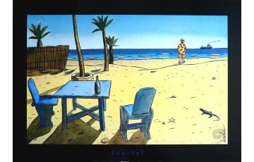 Affiche d'art 'La plage' - Loustal
