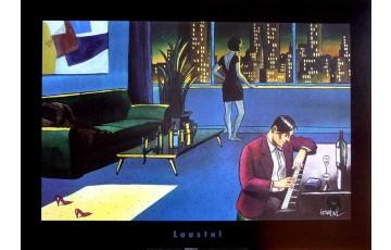 Affiche d'art 'Piano dans le salon' - Loustal