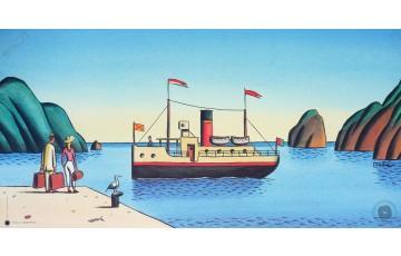 Affiche d'art 'Retour à Nuku-Hiva' - Loustal
