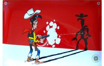 Plaque émaillée 'Lucky Luke, ombre' - Morris
