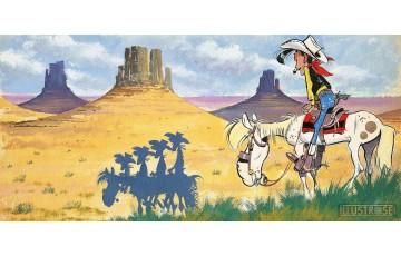 Toile 'Lucky Luke, Canyon' - Morris