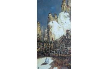 Affiche d'art 'Admirez le contre-jour, Satan' - Nicolas De Crécy