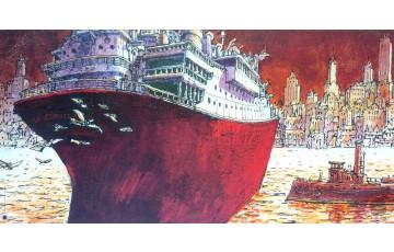 Affiche d'art 'New-York sur Loire' - Nicolas De Crécy