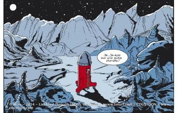 Plaque émaillée 'Les Schtroumpfs, Cosmo classique' - Peyo