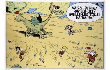 Toile 'Johan et Pirlouit, Fafnir' - Peyo