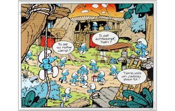 Toile 'Les Schtroumpfs, Le camp' - Peyo