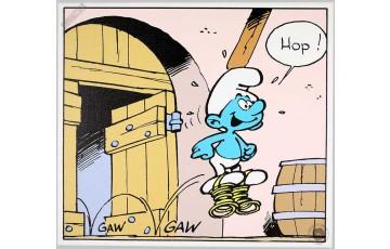 Toile 'Les Schtroumpfs, Gaw Gaw' - Peyo