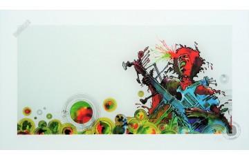Estampe pigmentaire N°/Signée 'Jimi Hendrix' - Philippe Druillet