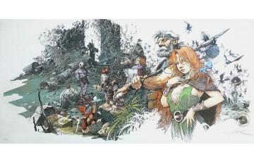 Affiche d'art N°/Signée 'La quête de l'oiseau du temps, couleur' - Régis Loisel