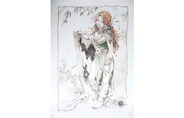 Affiche d'art 'La quête de l'oiseau du temps, Pélisse 3' - Régis Loisel