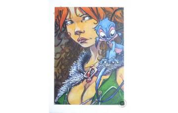 Affiche d'art 'La quête de l'oiseau du temps, Pélisse 4' - Régis Loisel