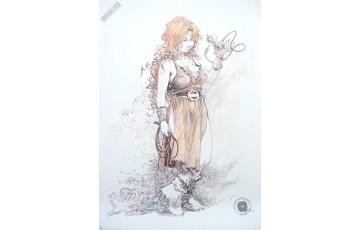 Affiche d'art 'La quête de l'oiseau du temps, Pélisse 5' - Régis Loisel