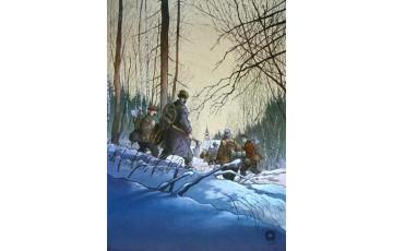 Affiche d'art 'Magasin général, Les hommes' - Régis Loisel / Jean-Louis Tripp