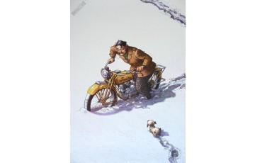 Affiche d'art 'Magasin général, Serge' - Régis Loisel / Jean-Louis Tripp