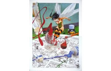 Affiche d'art 'Peter Pan, Clochette 3' - Régis Loisel