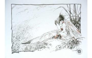 Affiche d'art 'Peter Pan, Clochette, autre songe' - Régis Loisel
