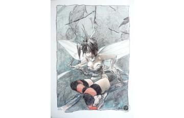 Affiche d'art 'Peter Pan, Clochette, destin 2' - Régis Loisel