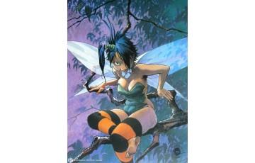 Affiche d'art 'Peter Pan, Clochette, destin' - Régis Loisel