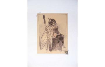 Affiche d'art 'Peter Pan, Fée N°1' - Régis Loisel