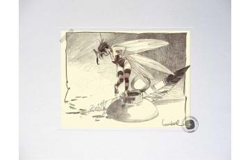 Affiche d'art 'Peter Pan, Fée N°5' - Régis Loisel