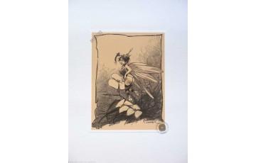Affiche d'art 'Peter Pan, Fée N°6' - Régis Loisel