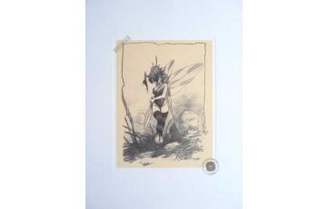 Affiche d'art 'Peter Pan, Fée N°7' - Régis Loisel