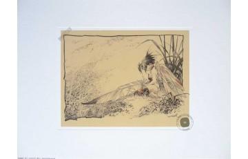 Affiche d'art 'Peter Pan, Fée N°9' - Régis Loisel