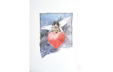 Affiche d'art 'Peter Pan, Clochette mon coeur' - Régis Loisel