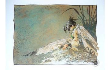 Affiche d'art 'Peter Pan, Clochette, songe d'une nuit d'été' - Régis Loisel