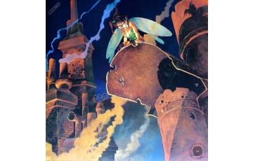 Affiche d'art 'Peter Pan, Les toits d'Angoulème' - Régis Loisel