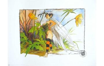 Affiche d'art 'Peter Pan, Clochette' - Régis Loisel