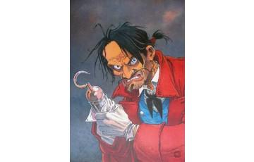 Affiche d'art 'Peter Pan, Crochet' - Régis Loisel