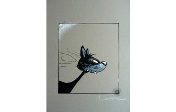 Sérigraphie signée 'Le chat' - Régis Loisel