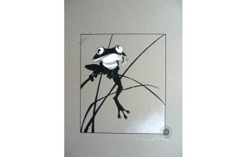 Sérigraphie signée 'La grenouille' - Régis Loisel