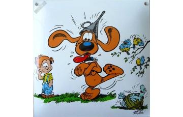 Plaque émaillée 'Boule et Bill, Bill est Maboul' - Roba