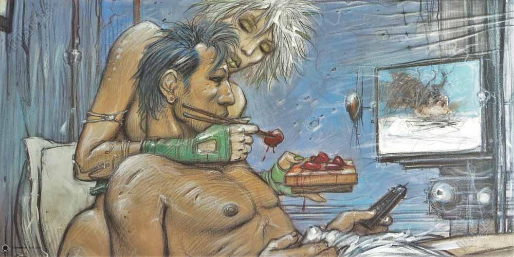 Affiche d'art BD Enki Bilal 'Sushimi' - Illustrose